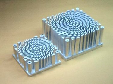 Picture of spiral heat sinks